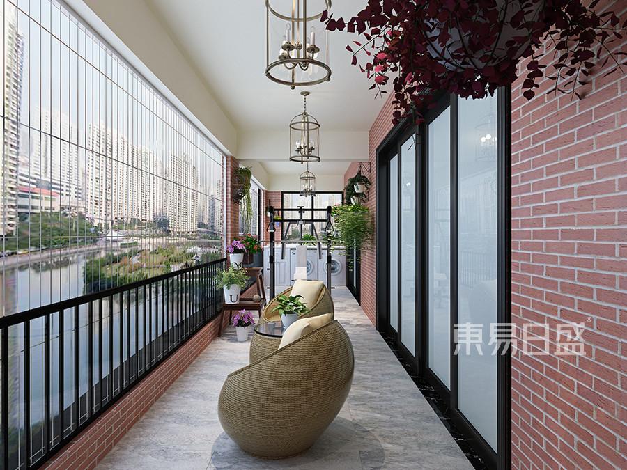 凤岗凤凰台凤华宫四房新现代阳台装修效果图