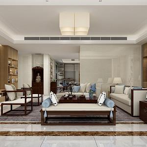 珑御府 现代简约风格装修效果图 190平米 四居室设计图