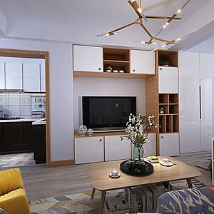 柜体墙面电视背景墙,充分利用有限空间