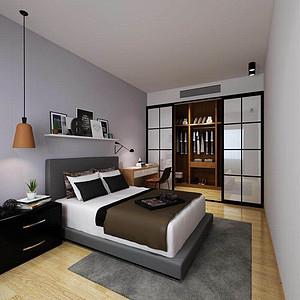 南阳一号北欧100㎡卧室装修效果图