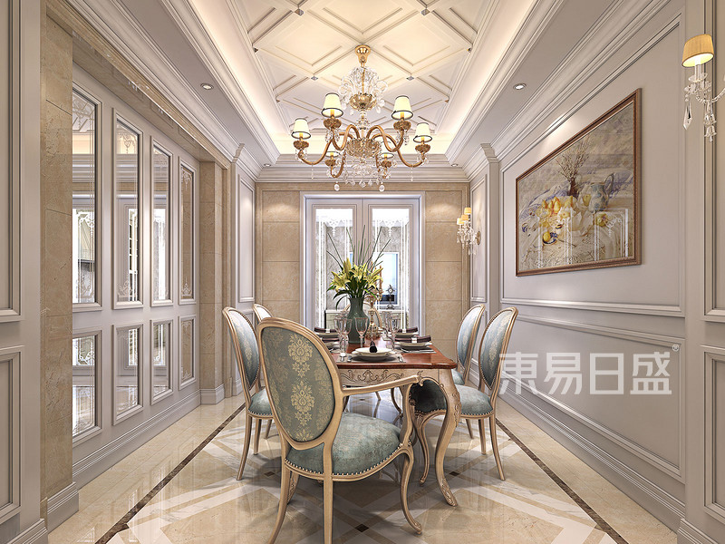 欧式风格瓷砖颜色搭配  在我国喜欢古典欧式风格的家庭不多,但也有人