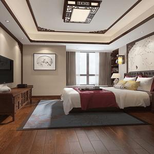 中式卧室体现中式深厚的文化底蕴