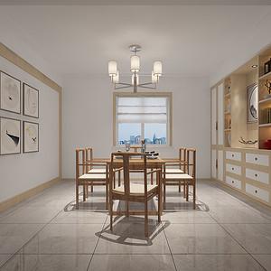 餐厅:木质与石材的搭配整体偏暖色调,墙上的装饰画和小饰品更有一丝画龙点睛,使整个空间不单调