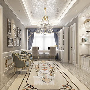 室天花的奢华对比地面的造型