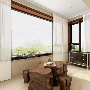 欧式古典-客厅阳台