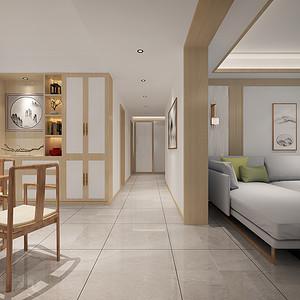 门厅:整体空间明亮,独特的光泽使家倍感时尚,具有舒适与美观并存的享受