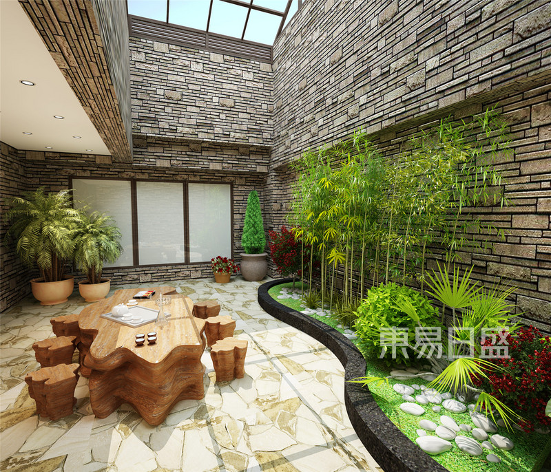 欧式古典 - 碧桂园欧式地下庭院装修效果图