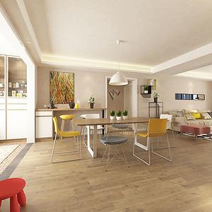 餐厅三居室-北欧-装修效果图