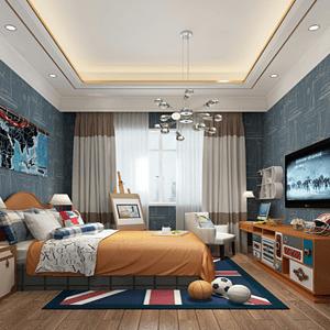 新中式卧室一个充满活力的空间