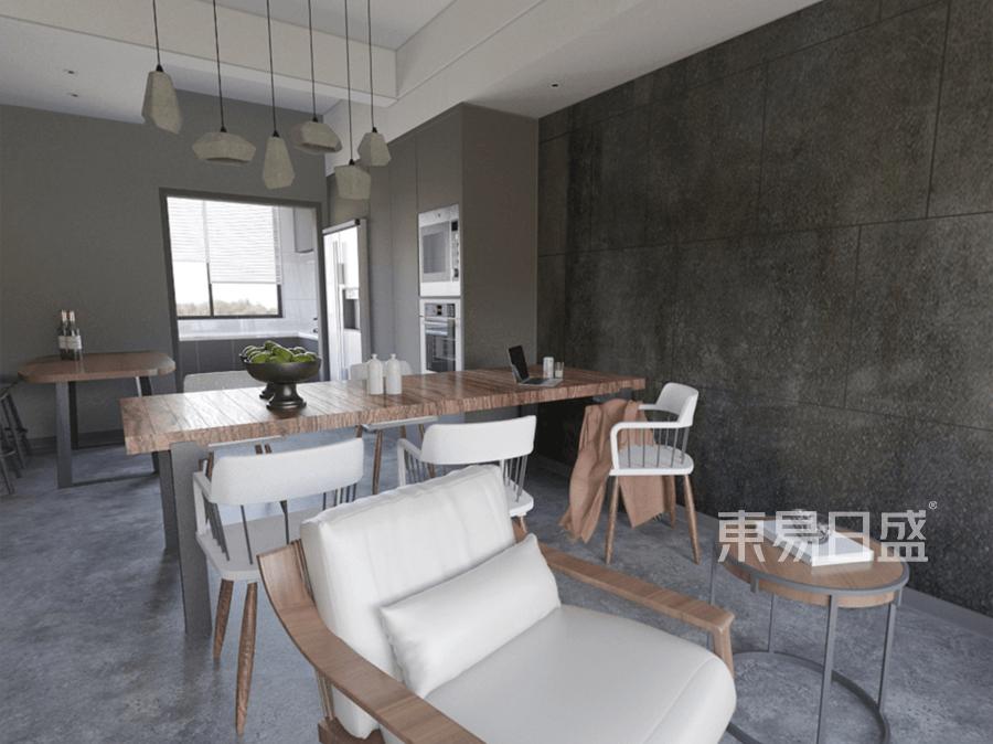 首创禧瑞山-工业风-餐厅