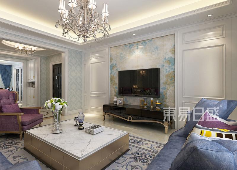 简欧- 客厅沙发背景墙欧式线条装饰到软装的搭