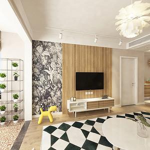逸翠园御峰 北欧风格装修效果图 3室2厅 143㎡