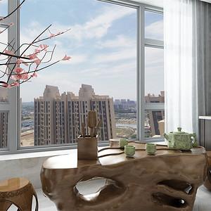 简中式-阳台茶歇区