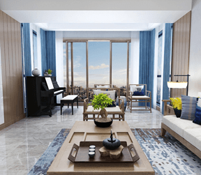 现代新中式-客厅设计