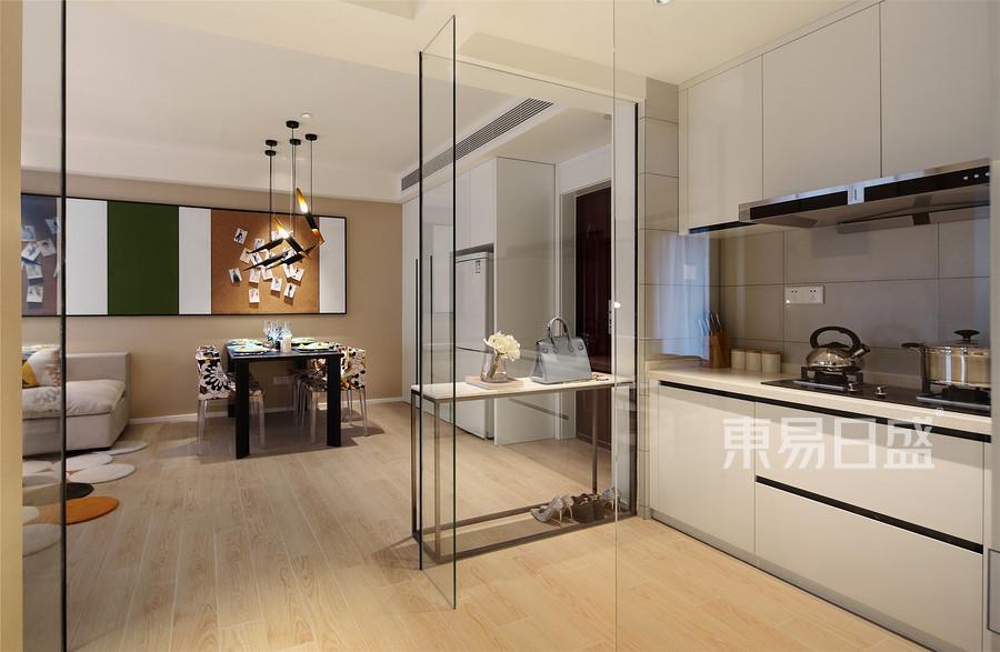 中豪汇景湾-现代风格-厨房、餐厅