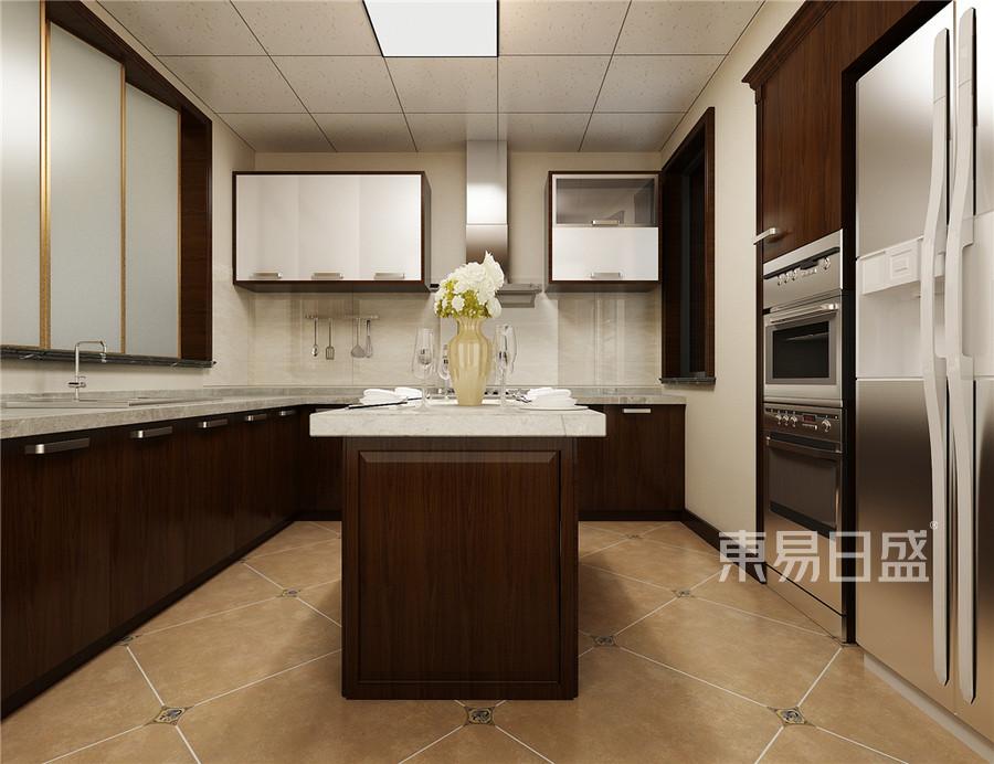 复式-新中式-厨房效果图
