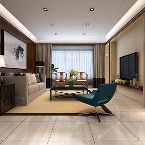 三居室-新古典-效果图