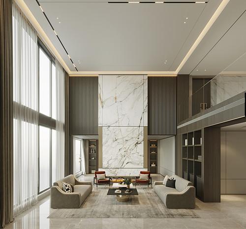 新世界1200平现代新轻奢别墅二三层装修效果图