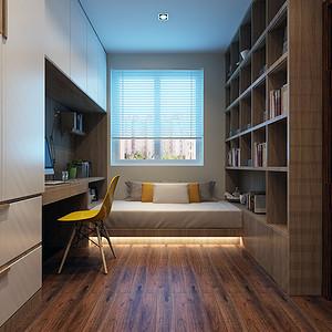 现代风格-书房-装修效果图