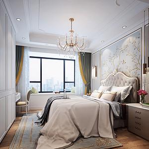 法式简约风格卧室装修效果图