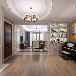 碧桂园美式风格客厅装修效果图