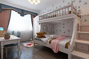三居室-现代简约-儿童房-效果图