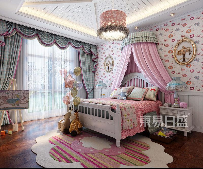 美式风格公主房装修效果图_儿童房效果图大全2018图片