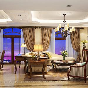 花间集150㎡四居室欧式古典风格