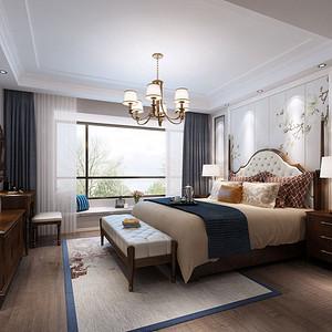 碧桂园美式风格卧室装修效果图