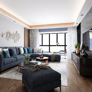 紫晶未来城125m²现代轻奢风格装修