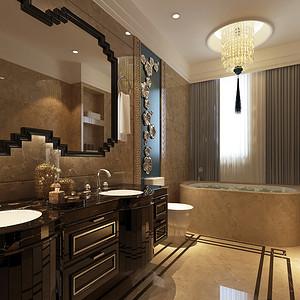 卫生间亮点在镜面装饰