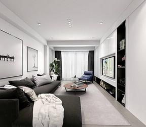 卧龙墨水湖现代简约客厅装修效果图