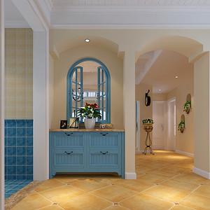 过道门厅窗台以鞋柜形式巧妙的设计