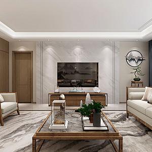 国熙台 新中式装修效果图 四室二厅 230平米