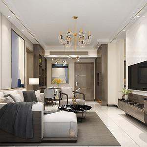 深圳华业玫瑰四季馨园装修效案例-92㎡现代简约二房二厅装修效果图