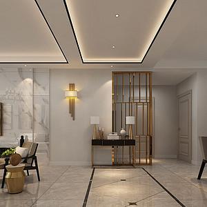三居室-现代简约-玄关-效果图
