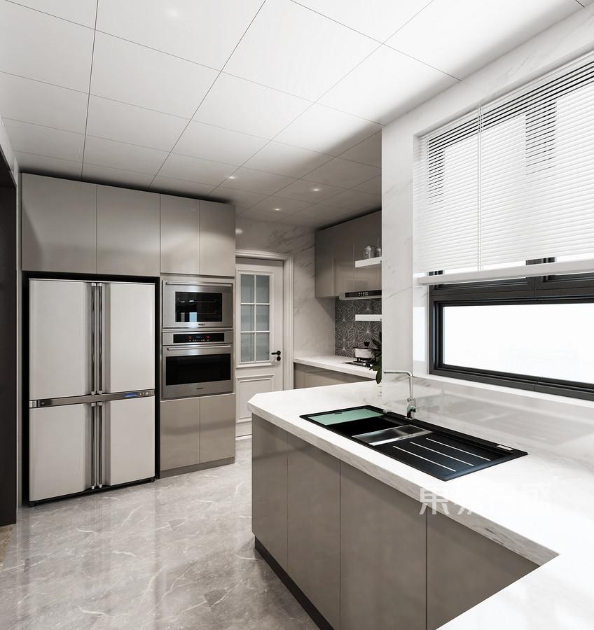 佛山星星凯旋现代简约平层厨房装修效果图