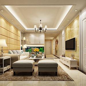 客厅采用乳白色为主色系