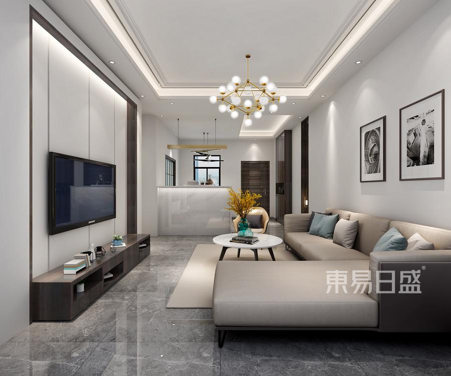 虎门海运轩三房现代风格客厅装修效果图