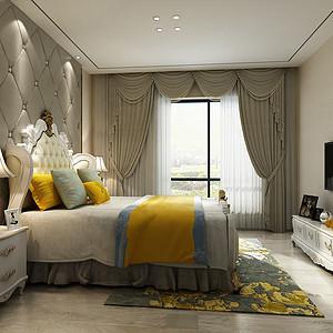 卧室采用软包软色系为主