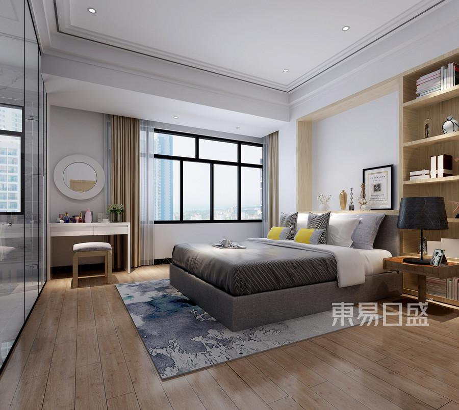 虎门海运轩三房现代风格主卧室装修效果图