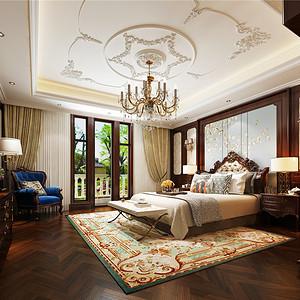 水木清华新古典主义卧室装修效果图