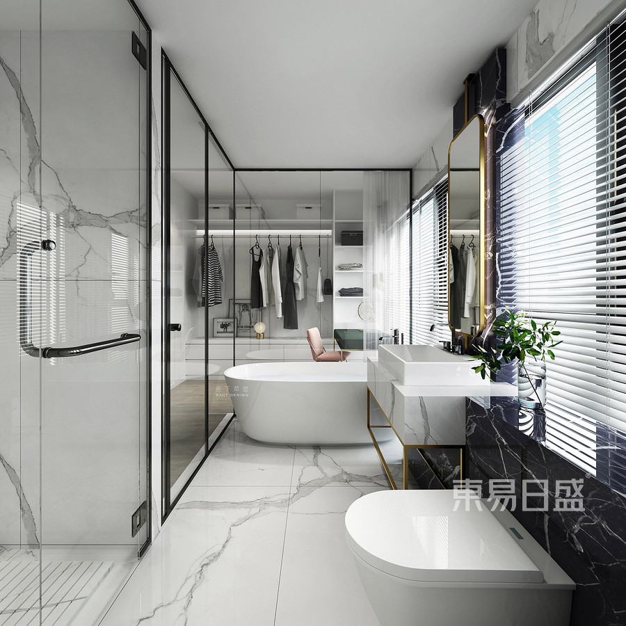 虎门海运轩三房现代风格卫生间装修效果图