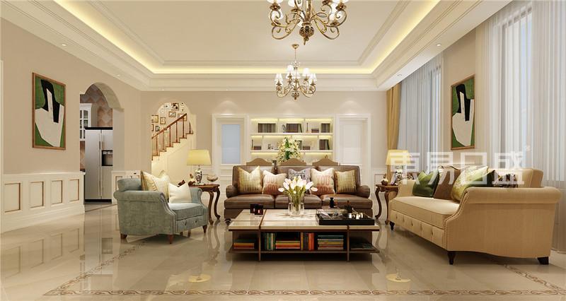 融科瀚棠-欧式风格-300平米装修设计理念