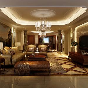 酒城一号欧式古典风格230平米设计