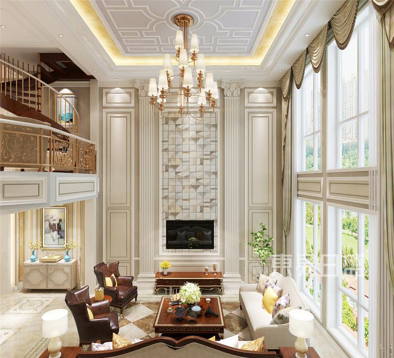 欧式古典 - 金隅乐府跃层欧式风格客厅装修效果图