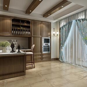 香岛庄园美式风格厨房