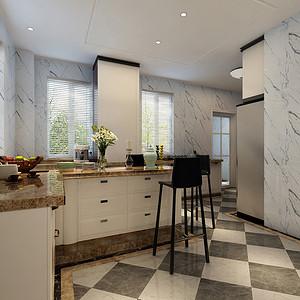 厨房扩大原有使用空间,增加岛台