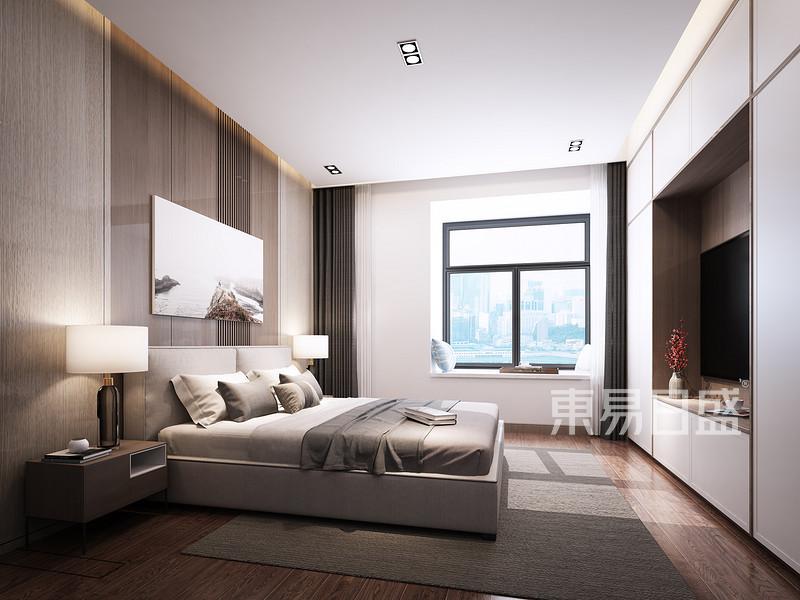 120㎡现代简约卧室装修样板间