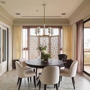 160㎡四居室简美风格餐厅效果图